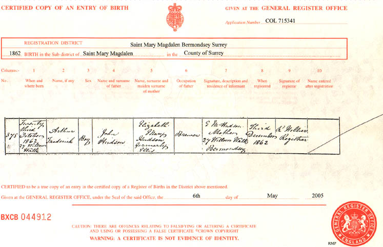Vital Records In The Odoherty And The Dyson Family History
